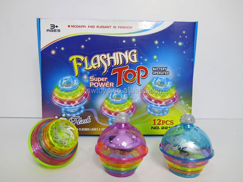 wholesale diamond toy spinning top light with musical