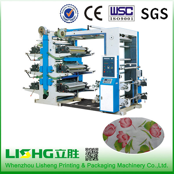 6 color flexographic printing machine
