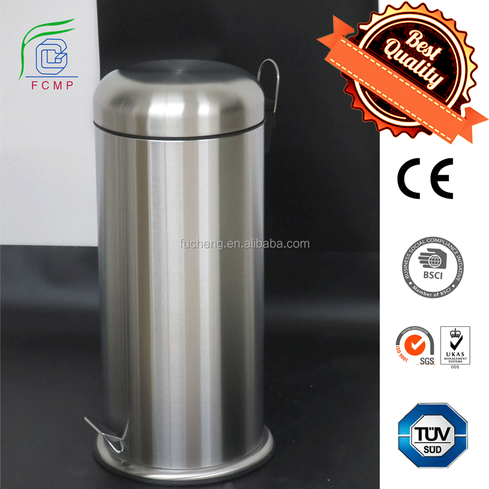 Accept reservation item kitchen essential satin finishing stainless steel pedal trash can , waste bin, dustbin 12/20/ 30L