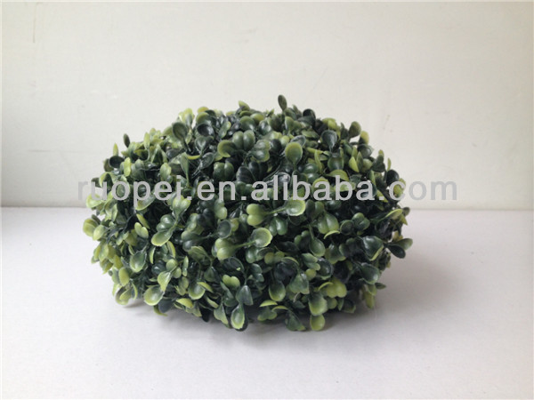 2014 Yiwu mini milan artificial boxwood ball Indoor Topiary Plant Fake Grass decor