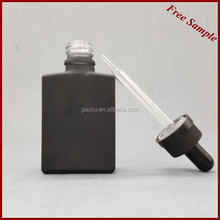 48 hours delivery childproof square glass dropper bottle with 15ml 30ml with square packaging