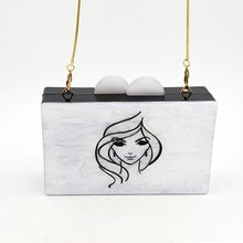 simple style latest design evening clutch bag beautiful lady picture acrylic shoes matching bag bridal bags