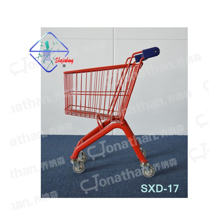 17L mini shopping trolley for children use metal shopping cart with flag