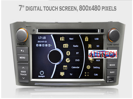 Car Stereo for Toyota Avensis Autoradio GPS Navigation Headunit Multimedia DVD with 3g bluetooth