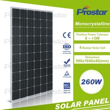 PV Solar Panel 260W Mono 270W 285 Watts Solar Energy Powe Kit