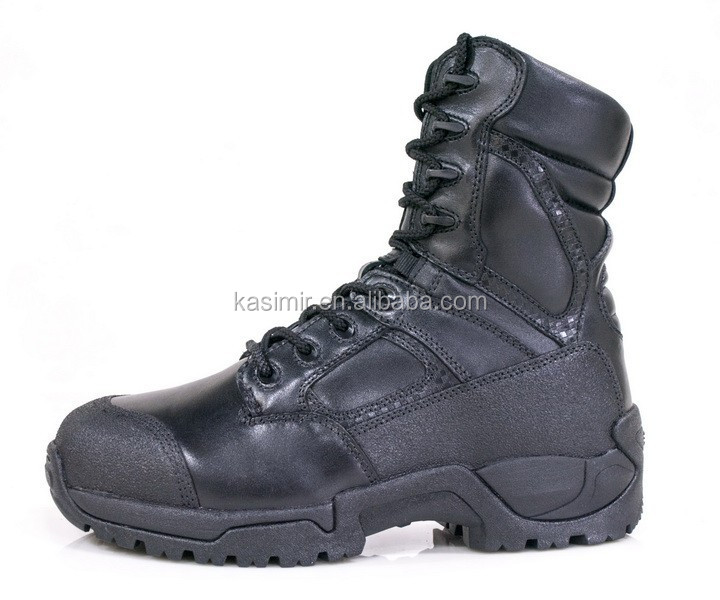 Full grain genuine leather patriot army jungle military boot combat tactical shoes