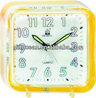 transparent apple shape desk cartoon alarm clock