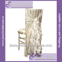 C006C1 fancy chiffonchair sash ruffled wedding chair cover