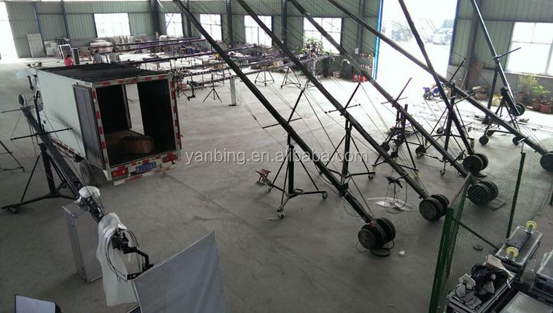 Professional photo video dslr triangle jimmy jib camera crane for sale with U type motorized head