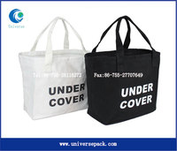 With Logo Printed Tote Simple Black And White Bag Cotton Hot Selling Export Bags
