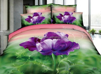 100% polyester bed sheet fabric flower printed fabric for Malaysia market