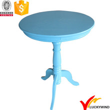 Small Round Aqua Blue Antique Coffee Hand Made French Table