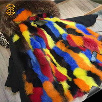 2016 fashion style warm for winter fur parka woman jacket hot sale