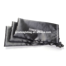 Custom cheap satin fabric bags hair,best price satin pouch of China