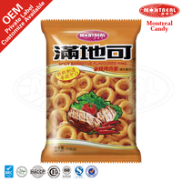 Spicy barbecue flavoring ring snacks