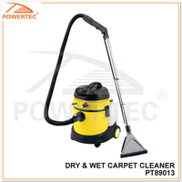 POWERTEC 1250/1400w 20L Dry and Wet Carpet Cleaner