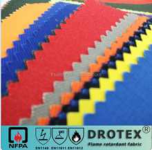 Higher factory manufacturer specialized for fire retardant & anti-static fabrics many color higher colorfastness FR fabrics