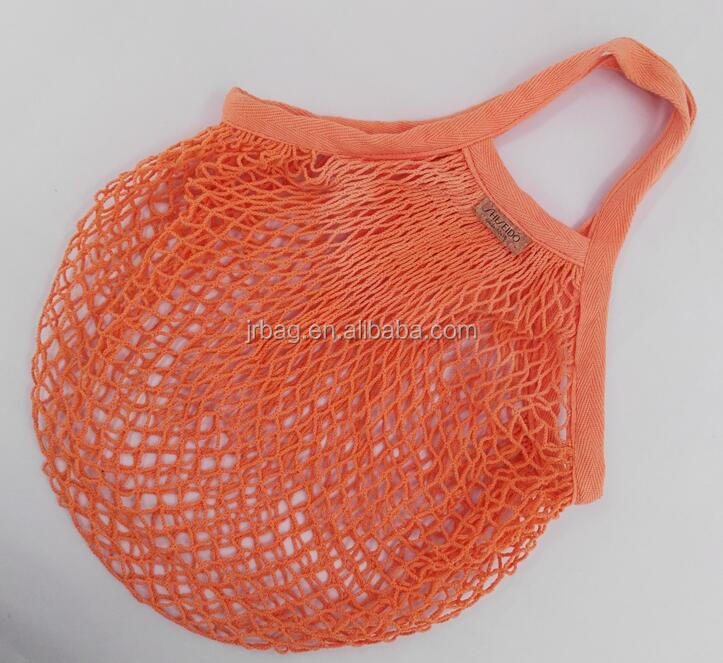 Fruit supermarket Organic Cotton Reusable Mesh shopping bag