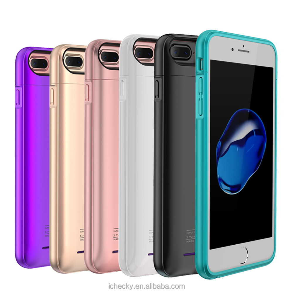 3000mAh Extended Rechargeable Battery Case for iPhone 7 Plus Power Bank Cover Portable Charger Battery Pack for iPhone 7 Plus