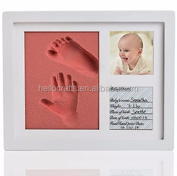 23*28cm Kid Photo Footprint Handprint With Soft Clay baby handprint crafts
