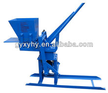 Top quality Hongying JZ-1 hand operated rotary clay brick making machine