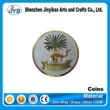 hot sale cheap price metal custom deserts souvenir coin camel shape cool coin