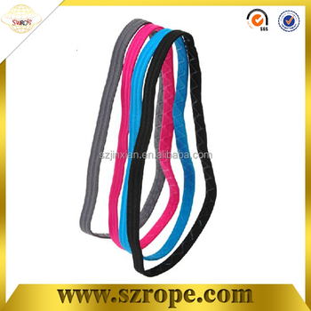 8 mm colored flat elastic hair band/elastic hair rope