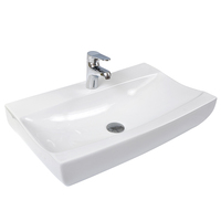 Promotion Shallow Ceramic Bathroom Wash Basin Vessel Sink