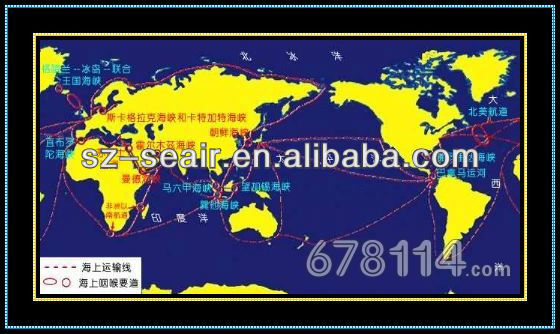 Sea freight global logistics express shipping tracking service from Shenzhen to Worlwide