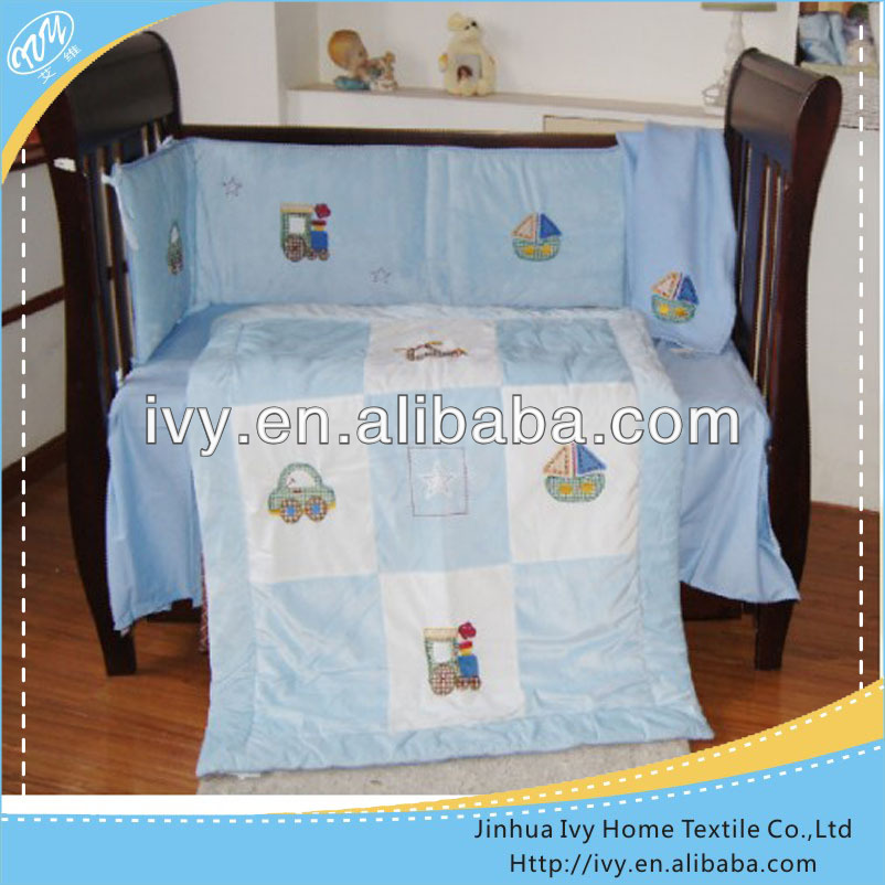 Luxury kids crib bedding set for beds monkey