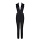 2018 Hottest Wholesale Sleeveless Black Sexy Backless Jumpsuit