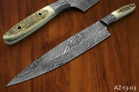 "udk 3"" handmade great quality sushi chef knife with stag antler"
