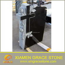 Shanxi Black Granite Cross shape Tombstone