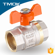 forged nickel-plating and sand blasting NPT threaded connection with material Hpb57-3 brass ball valve