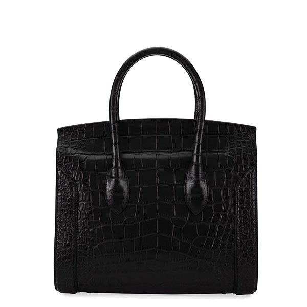 Leather Tote satchel bag with bottle holder Versse luxury crocodile bag