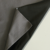 75D brushed kniting fabric Laminated waterproof breathable black TPU