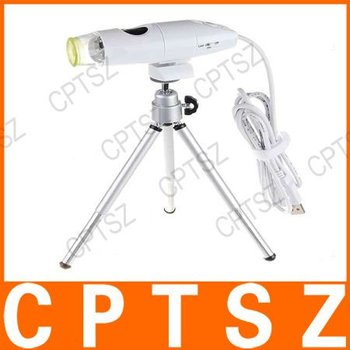 8-LED Illumination 230X Zooming USB Digital Microscope with Dock Stand and Tripod