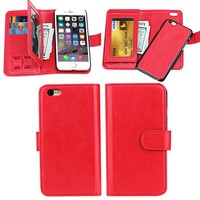 Leather Material for apple Compatible Brand leather flip Case for iphone6