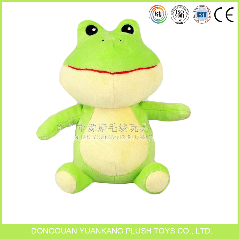 China Made Stuffed Green Jumping Frog Promotional Baby Plush Toy