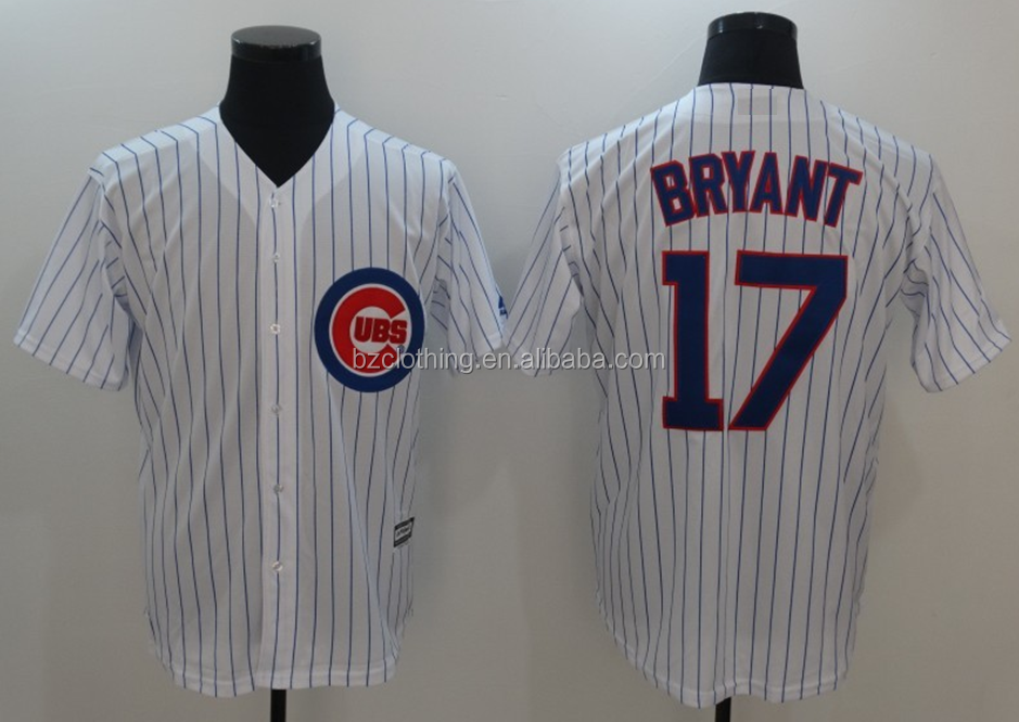 Chicago Cubs Kris Bryant #17 White American Baseball Jersey