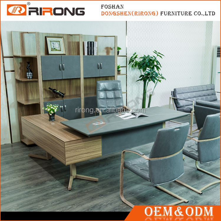 7*24H After-Sale Service Professional Supplier Mfc Metal Frame Nordic Style Executive Employer Table Office Furniture Desk