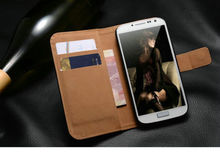 Luxury Genuine Real Leather Flip Sthand Case Wallet Cover For Samsung Galaxy S3 Mini i8190