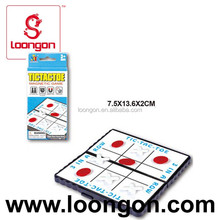 Loongon plastic magnetic tac tic toe board game pieces