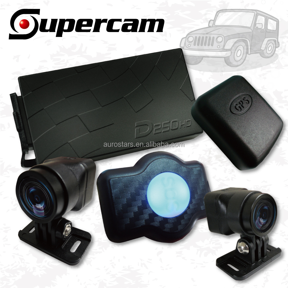 2 Channel DVR 720 Automobile Car Dashboard Front and Rear Camera Video Recorder