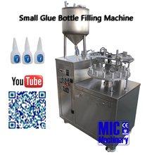 MIC Machinery good Stainless Steel Chemical Industrial glue Automatic filling and capping machine