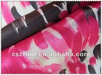 multicolor 100% polyester woven printed satin fabric for home textile