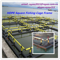 HDPE/PE Aquaculture (tilapia) fish cage floating, Fishing Net / jaulas de cria de peces de acuicultura