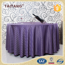 Custom Hotel Washable Vinyl Soft Round Diamond Purple Table Cloth