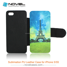 Custom Blank Leather Phone Case For Sublimation Printing For iPhone5/5S