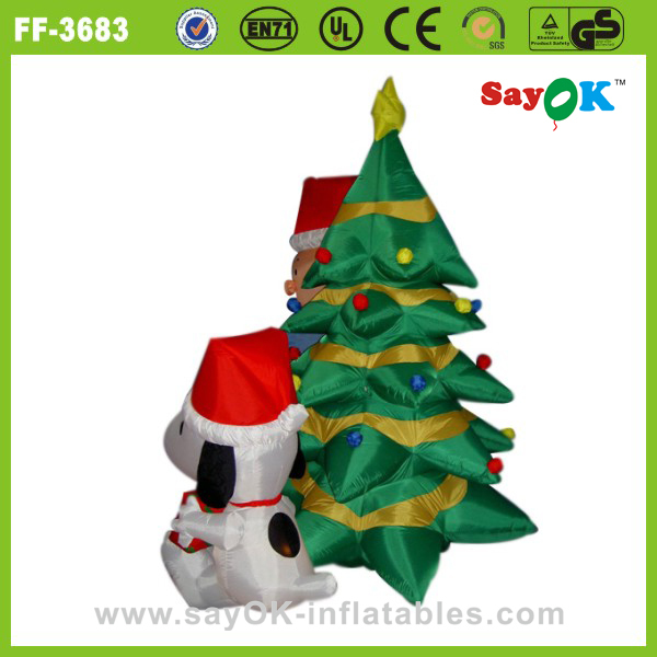 mini led inflatable christmas palm tree decoration